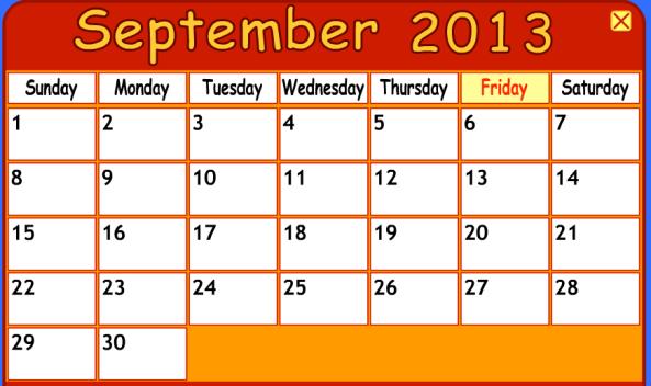 Calendar Lab April : September ms erna s technology lab