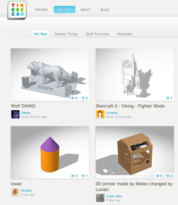 Tinkercad Gallery