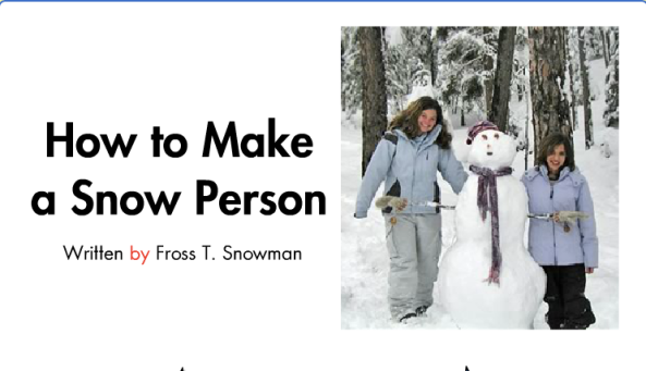 How To Build A Snow Person